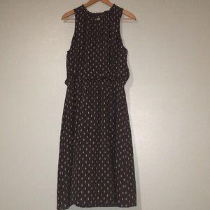 Garnet Hill Gray Patterned MIDI Dress 16